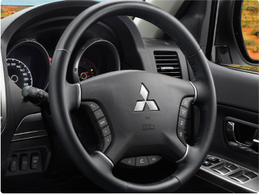 Leather steering wheel puts you in full control